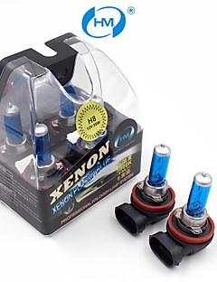 HM® Xenon Plasma H8 12V 35W Halogen Lamp Headlight White Light Bulbs (a Pair)