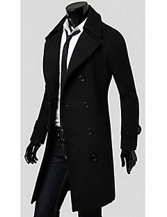 Pánské Jednobarevné Práce Běžné/Denní Sofistikované Kabát-podzim Zima Bavlna Polyester Košilový límec Dlouhý rukáv Dlouhé