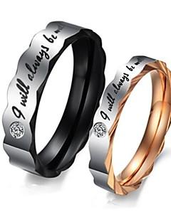 Ringen Birthstones Geboortestenen Bruiloft / Feest / Dagelijks / Causaal / Sport Sieraden Titanium Staal Dames Ringen voor stelletjes5 /