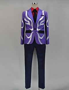 Inspiriert von Tokyo Ghoul Ken Kaneki Anime Cosplay Kostüme Cosplay Kostüme Patchwork Lila Lange Ärmel Top / Shirt / Hosen / Krawatte