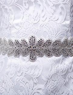 女性のエレガントなファッション薄いサテンの葉のラインストーンベルト(色以上)