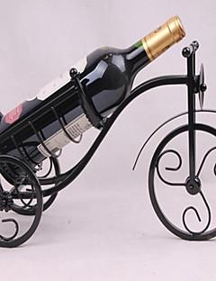 Vintage-Design-Edelstahl Weinregal Flaschenhalter bar decor Anzeige