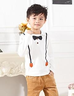 Ensfarvet Drengens Skjorte Alle årstider Bomuldsblanding