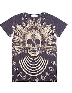 lhx1984 37D 패턴 인쇄 짧은 소매 티셔츠