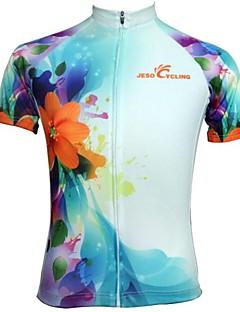 JESOCYCLING Camisa para Ciclismo Mulheres Manga Curta Moto Camisa/Roupas Para Esporte Blusas Secagem Rápida Respirável Redutor de Suor