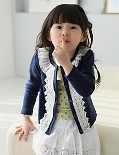 Girl's Solid Jacket & Coat,Cotton / Polyester Winter / Spring / Fall Blue / Pink