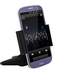 """רכב חריץ cd האוניברסלי הר עומד בעל מתכווננת הסוגר למכשירי GPS טלפון הנייד iPhone 3.5 """"-5.5"""""""