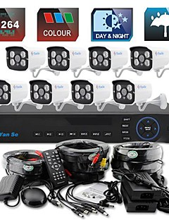 YanSe® 8CH 960H 1000TVL CCTV DVR Kit IR Camera Color Waterproof Security Cameras System 3.6mm 720CF08