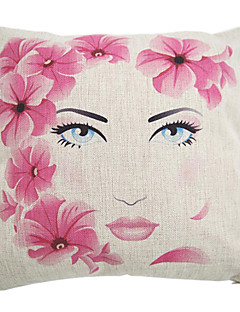 """createforlife® 18 """"modern skönhet blommor bomull linne kvadrat dekorativa kudde"""