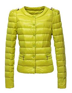 kakani женщин европейская мода сплошной цвет хлопка пальто