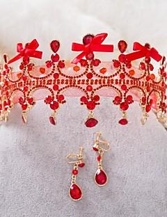 Dame Rhinsten/Legering Medaljon Bryllup/Speciel Lejlighed Diademer/Pandekæde Bryllup/Speciel Lejlighed
