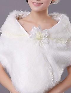 패션 가짜 모피 따뜻한 결혼식 (프리 사이즈) 볼레로 어깨를 으쓱 랩
