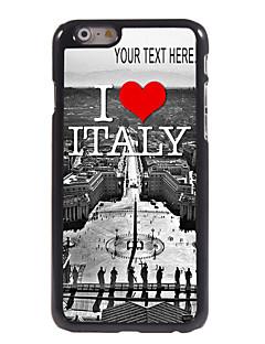 """personlig fall jag älskar italien designen metallhölje för iphone 6 (4,7 """")"""