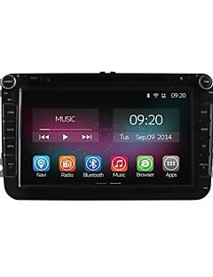 8 tommer 2 DIN bil DVD-afspiller til Volkswagen VW Golf polo quad core cpu ren android 4.4.2 gps