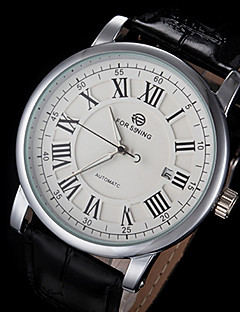 FORSINING® Men's Automatic Mechanical Classic Dial leather Band Wrist Watch (Assorted Colors) Cool Watch Unique Watch Fashion Watch