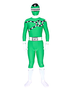 Power Ranger Mirai Sentai syaani Zentai cosplay puku