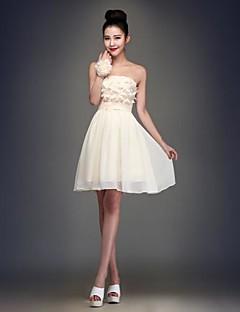 Robe de Demoiselle d'Honneur  Mode de bal Sans bretelles Longueur genou Mousseline polyester