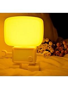 suono robot e luce notturna controllo della lampada da letto testa / lampada del bambino ha condotto la lampada da tavolo / San Valentino lampada