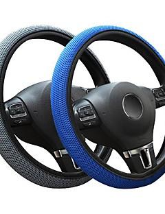 auto jeugd stof visnet stiksels auto stuurhoes universele pasvorm (37cm-38cm) kleur blauw grijs