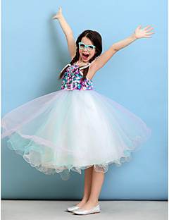 Ball Gown Halter Knee-length Tulle Junior Bridesmaid Dress (2050557)