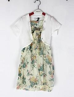 Vestidos (de Algodão ) - MENINA - Manga Curta - Médio - Micro-Elástico