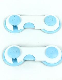 plast barnesikring - hvit + lyseblå (2 stk)