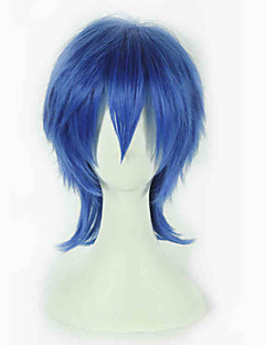 Cosplay Wigs Vocaloid Kaito Blue Short Anime Cosplay Wigs 35 CM Heat Resistant Fiber Female
