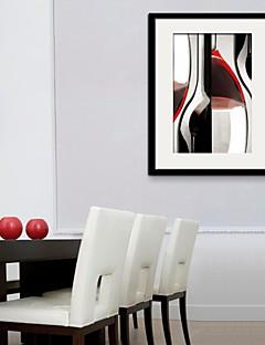 Bodegón / Fantasía Lienzo enmarcado / Conjunto enmarcado Arte de la pared,PVC Negro Passepartout incluido con Marco Arte de la pared
