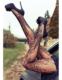 Women's Sexy Charming Floral Pattern Fishnet Pantyhose
