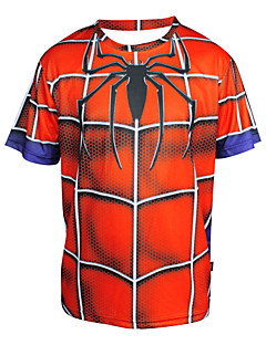 Arsuxeo  Quick Drying Short Sleeve Cycling MTB Trail Jersey Spider Man