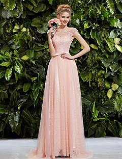 A-line Shoulder Bag Hand Beaded Pink Slim Bride Party Dress/Engagement Party