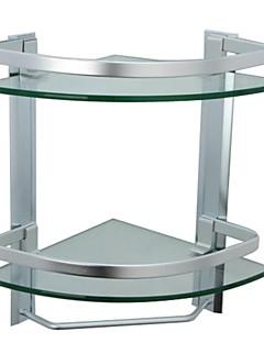 Badeværelseshylde / AluminiumAluminium Tempereret glas /Moderne