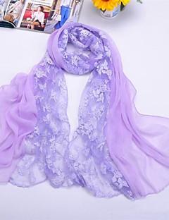châles en mousseline de soie / polyester correspondance a augmenté écharpes d'impression (plus de couleurs)