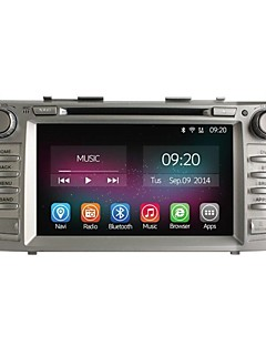 8 Inch 2 Din In-Dash Car DVD Player For Toyota Camry 2006-2011 with Quad Core Pure Android 4.4.2 GPS Navigation Radio