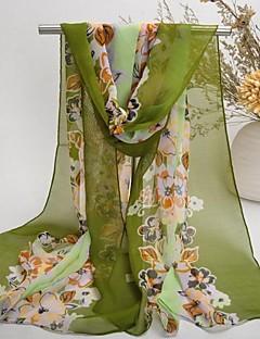 sjal chiffon / polyester elegant print skjerf (flere farger)