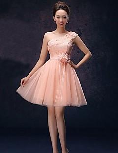 Formal Evening Dress A-line One Shoulder Short/Mini Lace Dress