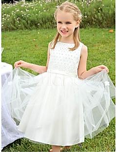 Prinses Thee lengte Bloemenmeisje jurk - Katoen/Taf/Polyester Mouwloos