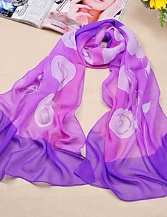 sjalar chiffong / polyester matchande orkidé utskrifts halsdukar (fler färger)