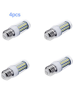 4pcs E27 12W 56x5730SMD 1200LM Light LED Corn Bulb (220V)
