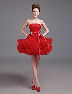 Cocktail Party Dress - Ruby Plus Sizes A-line Notched Short/Mini Satin