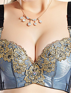KNF Good Quality Exquisite Women's Floral Bra Light Cotton Bra Ladies Bra Underwear Item Thick B-Cup Four Hook-And-Eye