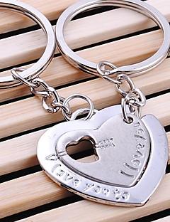dvostruka srca vjenčanja ključeve privjesak za ljubavnika Valentinovo (jedan par)