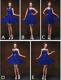 Mix & Match Dresses Short/Mini Chiffon 5 Styles Bridesmaid Dresses (2840138)