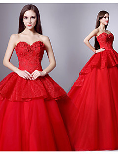 Ball Gown Sweetheart Court Train Wedding Dress (Tulle)