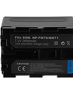 2600mAh Camera Battery Pack for SONY NP-QM71/FM70