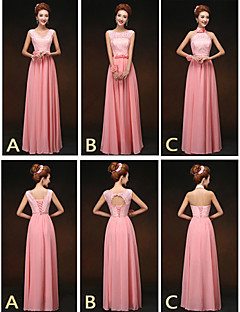 Mix & Match Dresses Floor-length Chiffon and Lace 3 Styles Bridesmaid Dresses (2859514)