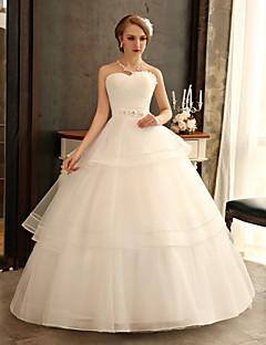 Princess Wedding Dress - Ivory Floor-length Sweetheart Tulle