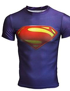Tops/T-shirt - Tops/T-shirt ( Noir/Bleu royal ) de Fitness/Sport de détente/Cyclisme/Course - Respirable/Séchage rapide/Compression  à