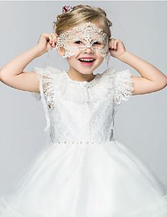 Flower Girl Dress - Palloncino/Stile Principessa Cocktail Maniche corte Cotone/Pizzo/Organza/Taffeta