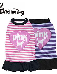 """droolingdog® dejlige """"kærlighed og lyserød hund"""" mønster 100% bomuld kjole til hunde (assorteret farve assorterede størrelser)"""